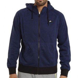 Nike French Terry Shoebox Full-Zip Hoodie 3XL Blue